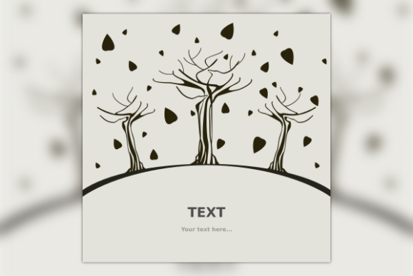 Falling Leaves Trees for Text Background Graphic Backgrounds By faqeeh