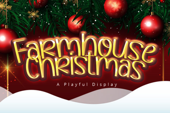 Print on Demand: Farmhouse Christmas Display Font By iblfz