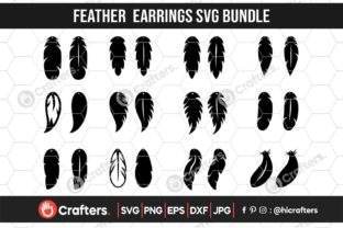 Feather Earrings Bundle Graphic Crafts By HiCrafters