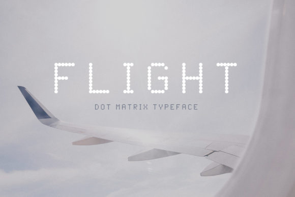 Print on Demand: Flight Display Font By inspirationfeed