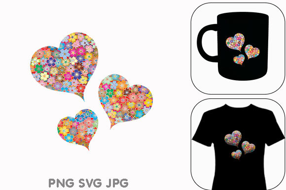 Print on Demand: Flowers Flora Heart Valentines Day Graphic Illustrations By Chiplanay