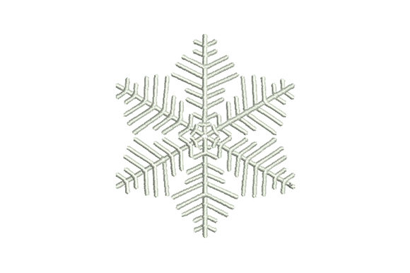 Print on Demand: Fluffy Snowflake Winter Embroidery Design By EmbArt