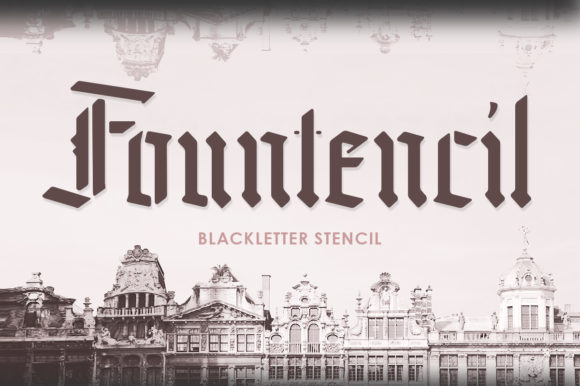 Print on Demand: Fountencil Blackletter Font By letterhend