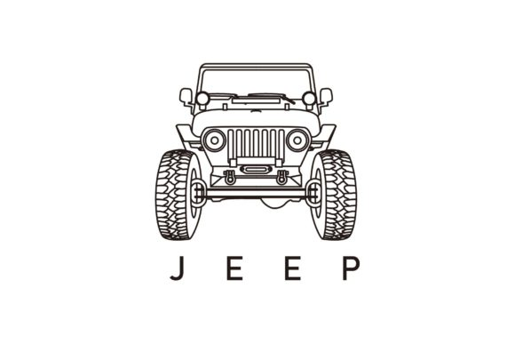 Front Jeep Line Art Graphic Logos By artpray