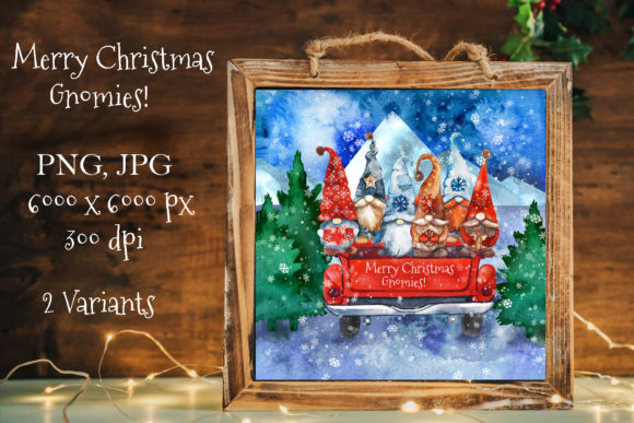 Gnome Christmas Card Graphic Illustrations By KsenyaArt
