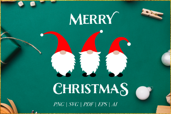 Print on Demand: Gnome Svg, Christmas Gnome Graphic Crafts By Simply Swapnil