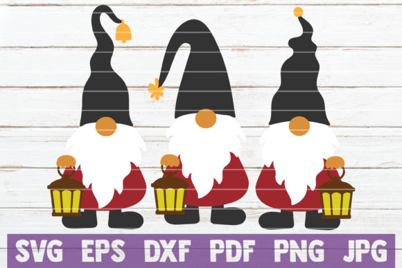 Gnomes with Lamp Graphic Crafts By MintyMarshmallows