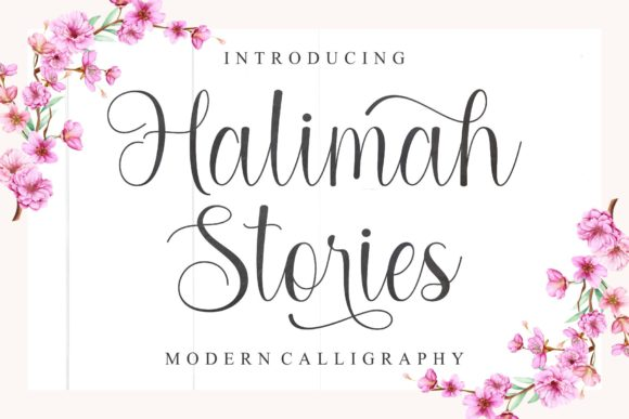 Print on Demand: Halimah Stories Script & Handwritten Font By MJB Letters