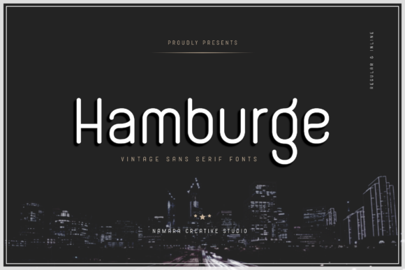 Print on Demand: Hamburge Sans Serif Font By namaracreativestudio