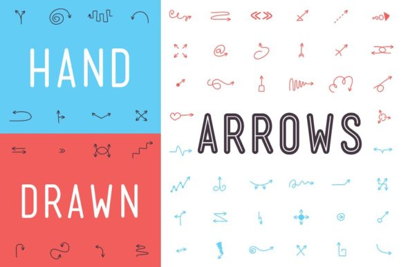 Print on Demand: Hand Drawn Arrows Dingbats Font By inspirationfeed