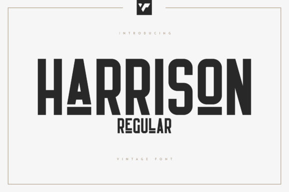 Print on Demand: Harrison Display Font By vladfedotovv