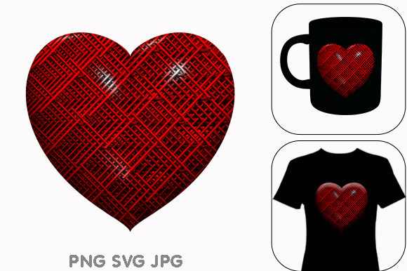 Print on Demand: Heart Valentines Day Love Symbol Icon Graphic Illustrations By Chiplanay