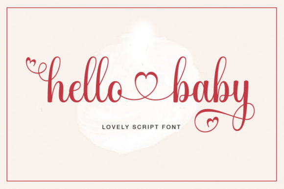 Print on Demand: Hello Baby Script & Handwritten Font By letterfreshstudio