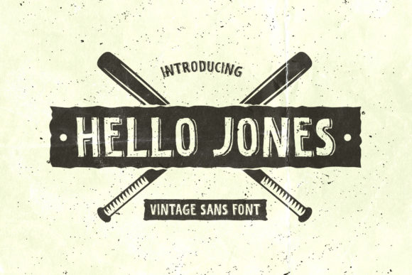 Print on Demand: Hello Jones Display Font By TypeFactory