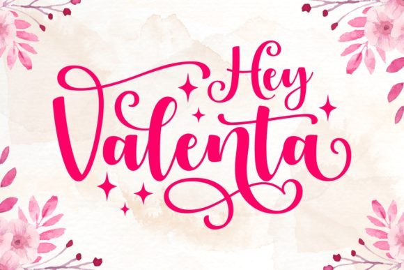 Print on Demand: Hey Valenta Script & Handwritten Font By Keithzo (7NTypes)