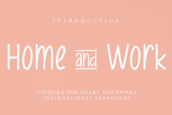 Print on Demand: Home & Work Script & Handwritten Font By Micro77 type