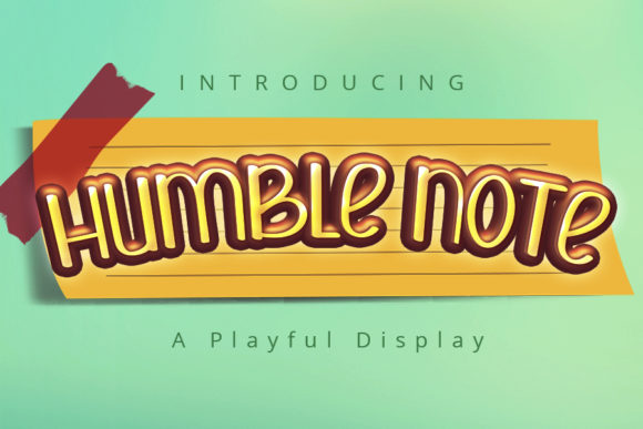 Print on Demand: Humble Note Display Font By iblfz