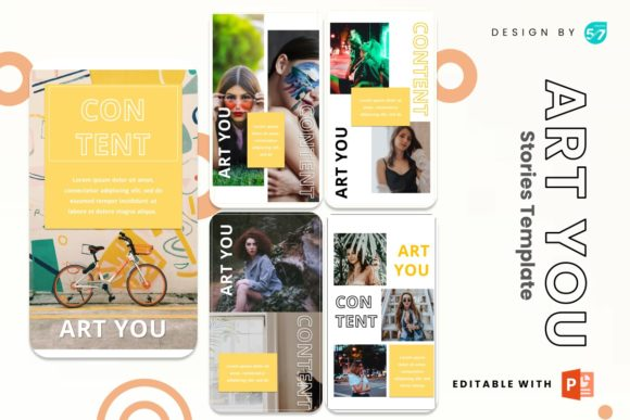 Instagram Story - Art You Graphic Presentation Templates By 57creative