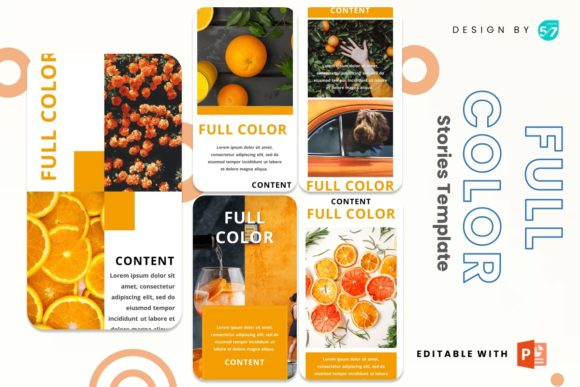 Instagram Story - Full Color Graphic Presentation Templates By 57creative