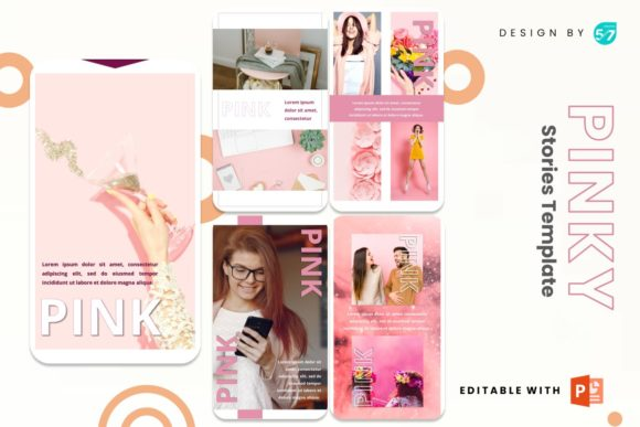 Instagram Story - Pinky Graphic Presentation Templates By 57creative