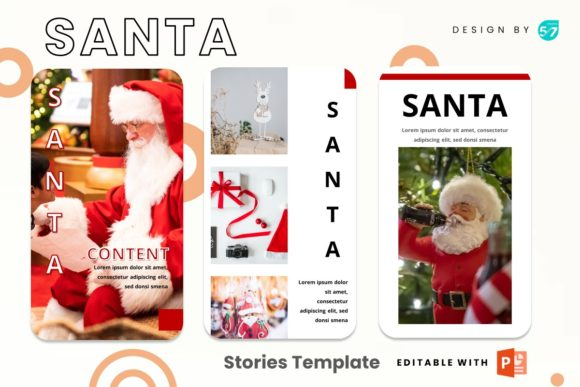 Instagram Story - Santa Graphic Presentation Templates By 57creative