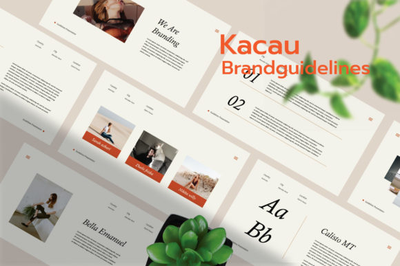 Kacau - Brand Guidelines PowerPoint Graphic Presentation Templates By CreatorTemplate