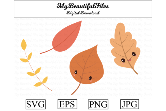 Print on Demand: Leaves Clipart Design Graphic Illustrations By MyBeautifulFiles