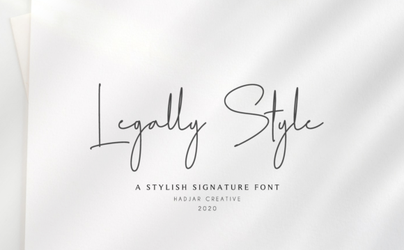 Print on Demand: Legally Style Script & Handwritten Font By hadjarcreative