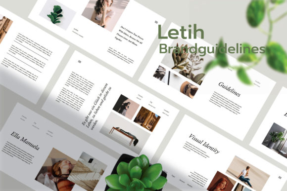 Letih - Brand Guidelines PowerPoint Graphic Presentation Templates By CreatorTemplate