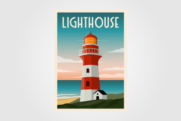 Lighthouse Background Template Poster Graphic Graphic Templates By lawoel