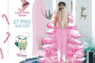 Print on Demand: Love Pink Xmas Graphics Graphic Illustrations By Digital Doodlers