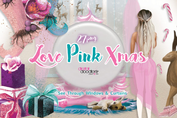 Love Pink Xmas Graphics Graphic Download