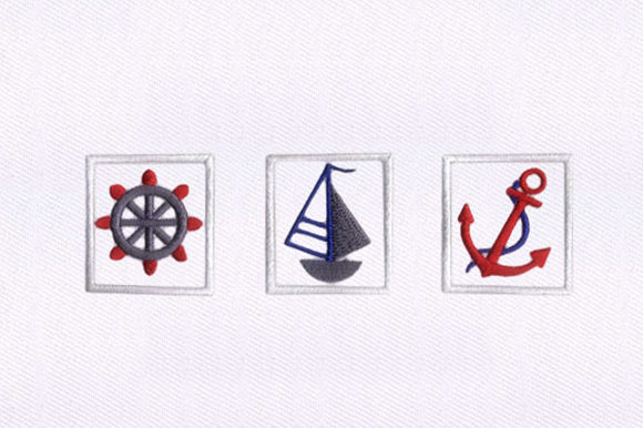 Marine Motifs Nursery Beach & Nautical Embroidery Design By DigitEMB