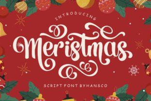 Print on Demand: Meristmas Script & Handwritten Font By HansCo