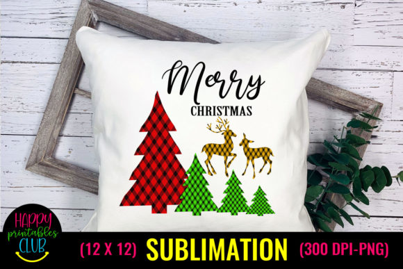 Merry Christmas - Christmas Sublimation Graphic Crafts By Happy Printables Club