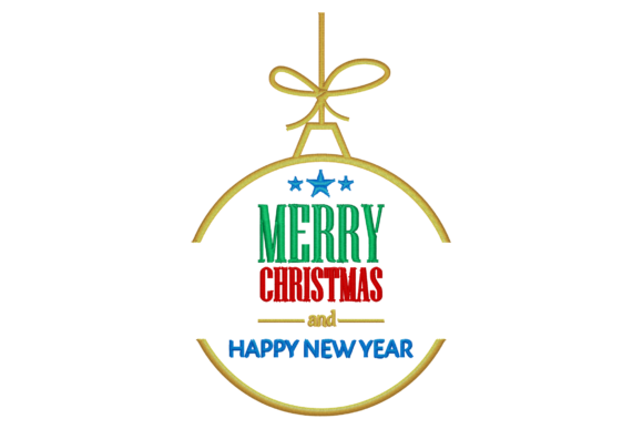 Merry Christmas Wish Embroidery Design