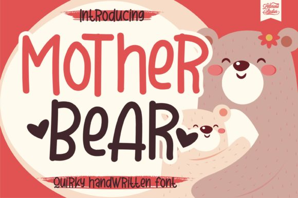 Print on Demand: Mother Bear Script & Handwritten Font By letterenastudios