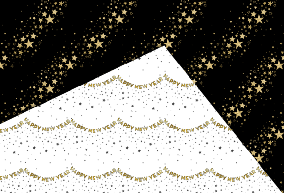 New Year Party Patterns Graphic Download