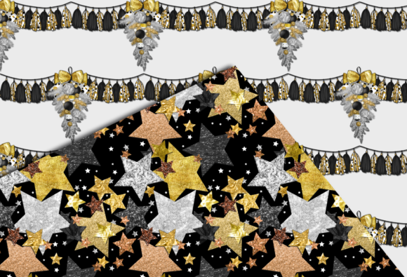 New Year Party Patterns Graphic Preview