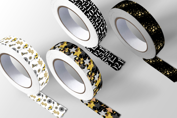 New Year Party Patterns Graphic Design Item