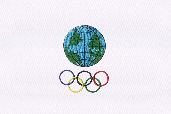 Olympic Rings Sports Embroidery Design By DigitEMB