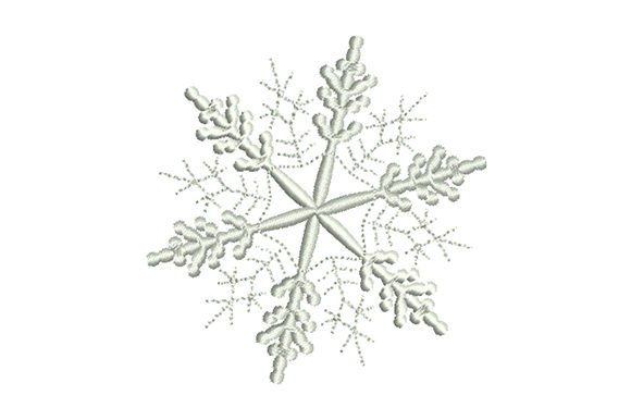 Print on Demand: Openwork Snowflake Winter Embroidery Design By EmbArt