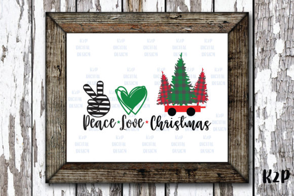 Print on Demand: Peace Love Christmas Graphic Crafts By KtwoP