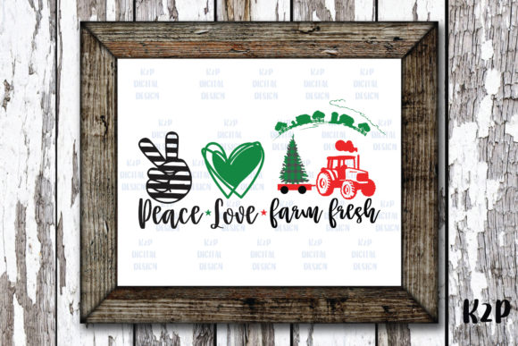 Print on Demand: Peace Love Christmas Tractor Farm Fresh Graphic Crafts By KtwoP