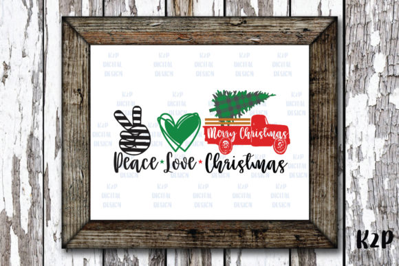 Print on Demand: Peace Love Christmas Truck Farm Fresh Graphic Crafts By KtwoP