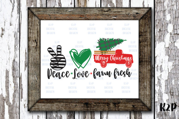 Print on Demand: Peace Love FarmFresh Truck Graphic Crafts By KtwoP