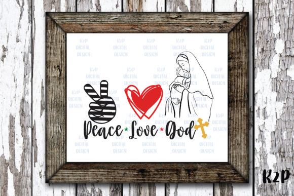 Print on Demand: Peace Love God Christmas Graphic Crafts By KtwoP