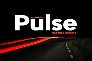 Print on Demand: Pulse Display Font By HipFonts