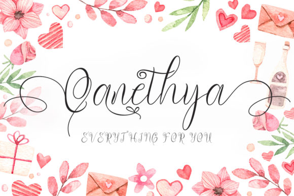 Print on Demand: Qanethya Script & Handwritten Font By yogaletter6