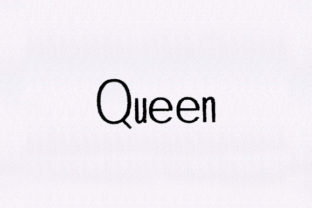 Queen Text Mother Embroidery Design By DigitEMB